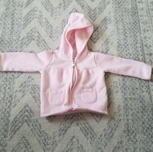Carter's light pink baby girl 9 month hoodie